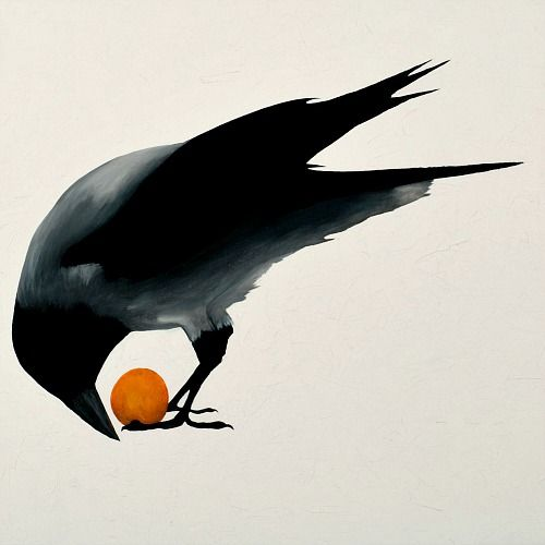 simple and really captures the gathering nature of crows