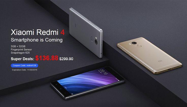 XiaoMi Redmi 4, Discount Coupon from Banggood @ $136.88 !!!