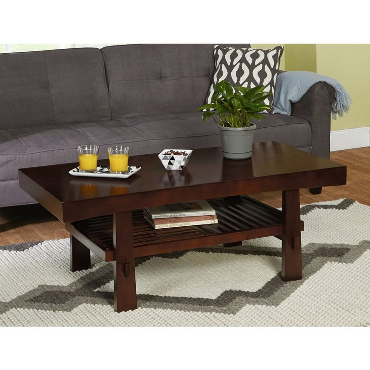 Clean, Modern Lines And Solid Wood With A Dark Walnut Finish Add Elegance  To This Sakura Cocktail Table. This Living Room Furniture Piece Is Crafted  Of ... Part 48