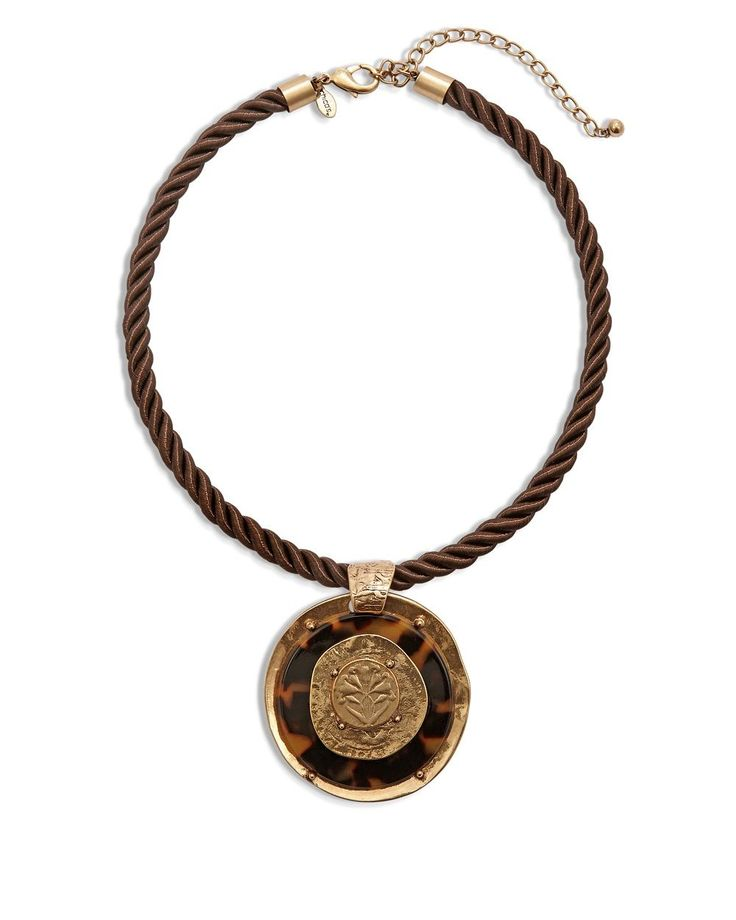 Chico's Women's Sabine Short Pendant Necklace, Animal, Size: One Size