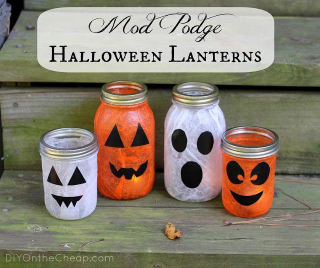 Mod Podge Halloween Lanterns