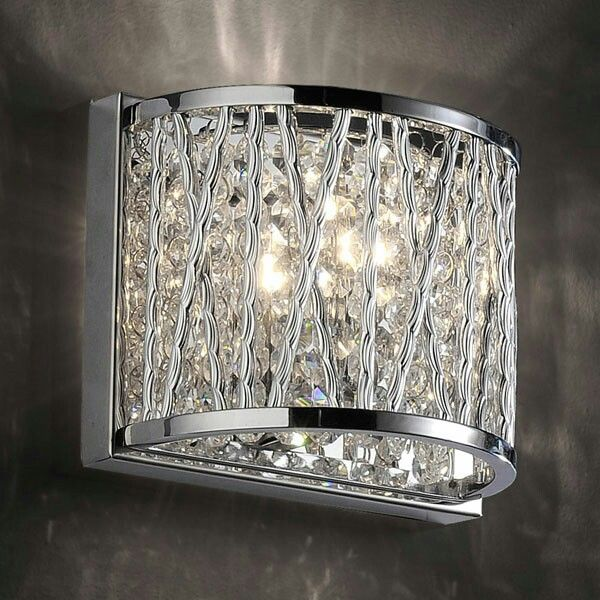 Chrome Wall Light With Matching Ceiling Light And Lamp