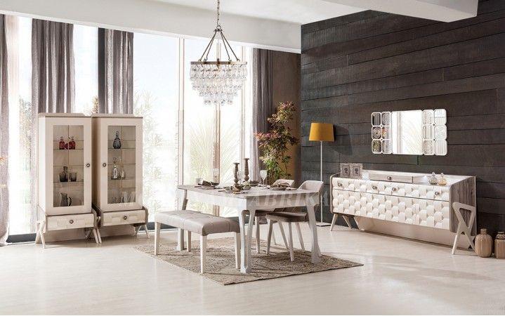 Tarzı,havası,edası çok farklı olan emily yemek odası takımı soft renkleri ile evinize huzur sunuyor. #mobilya #inegöl #modern #tasarım #yemek #masa #konsol #dekorasyon
