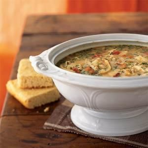 This hearty chicken chowder makes enough to feed a crowd and is simple to prepare on a weeknight.