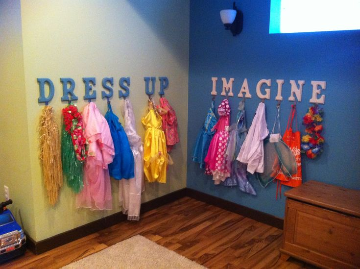 Easy way to store dress up clothes!