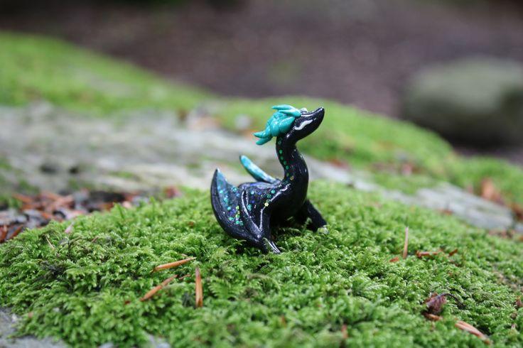 Aurora dragon polymer clay JinjinCrafts
