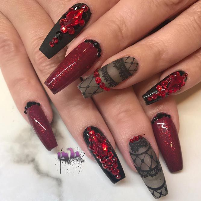 Cool And Edgy Ideas For Coffin Shaped Nails See More Https Naildesignsjournal Com Coffin Shaped Nails Coffin Nails Designs Coffin Shape Nails Nail Designs