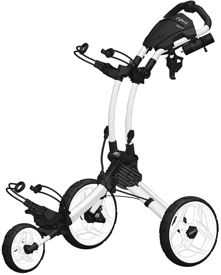 This feature-rich Rovic RV1C golf push cart by Clicgear comes with a streamlined frame and lightweight and durable construction!