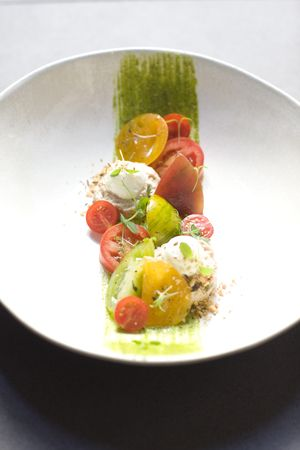 RESTAURANT JAN | Tomato + mozzarella salad | Nice, France #onemichelinstar