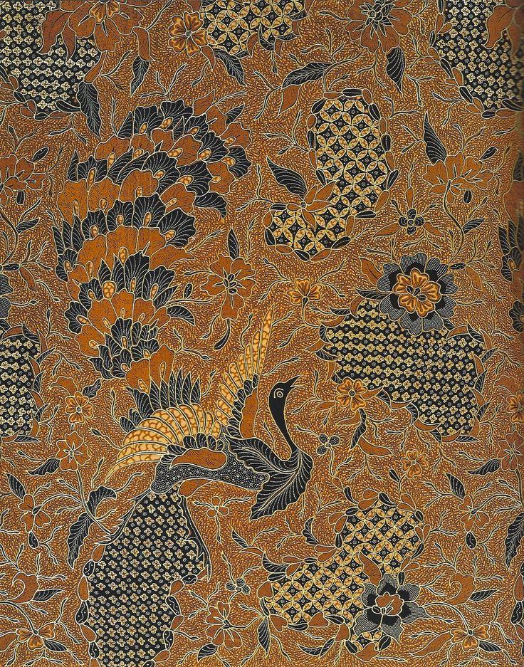 Batik Kains detailed Batik outlined in prada goldwork