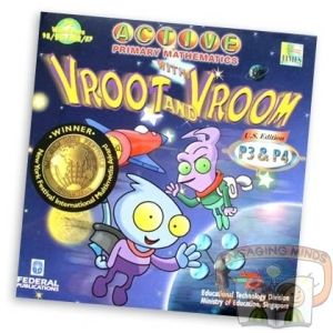 Vroot Vroom is a fun computer game to supplement Primary Maths 3A through to 4B