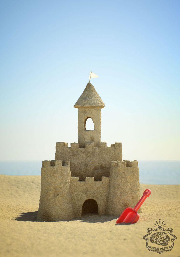 simple sand castle - Google Search