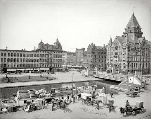 "Syracuse, New York, circa 1905. ""Clinton Square."" Visit www.Sollecito.com #Landscaping #Nursery in #Syracuse, New York."