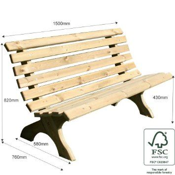 Lily Pine Garden Bench