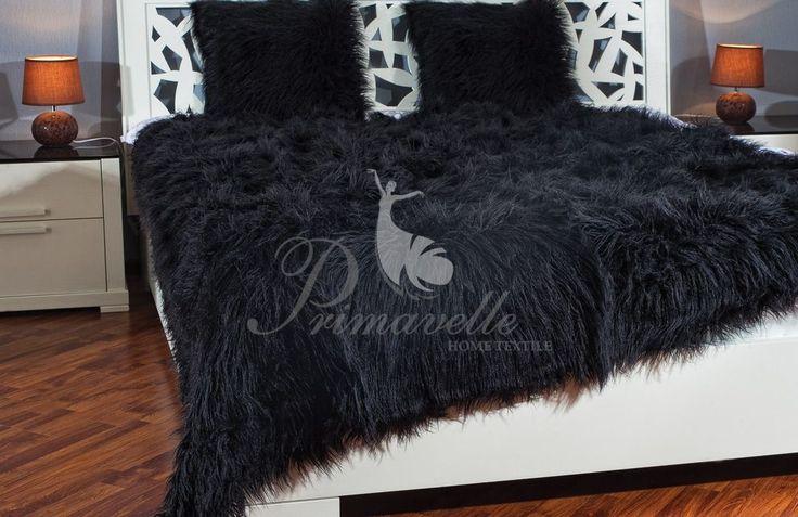 Меховой плед Lama (черный) – купить в интернет-магазине ТМ Primavelle
