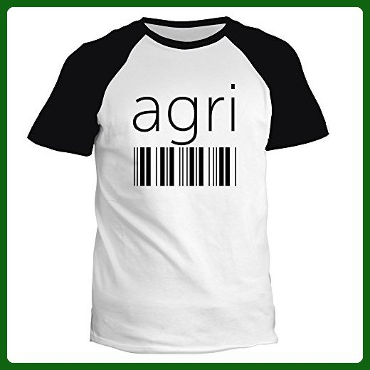 Idakoos - Agri barcode - Cities - Raglan T-Shirt - Cities countries flags shirts (*Amazon Partner-Link)