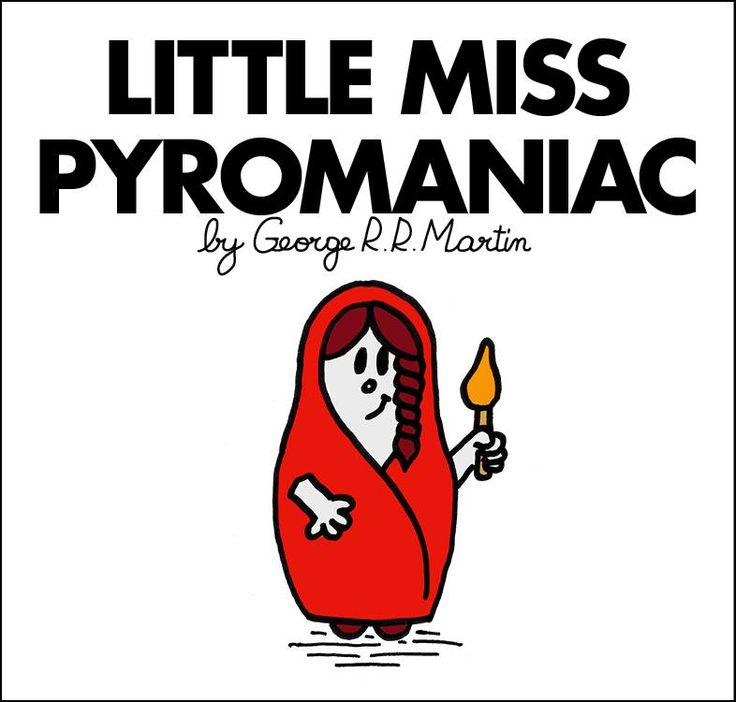 Mr. Men and Little Miss Game of Thrones characters - Little Miss Melisandre of Ashai