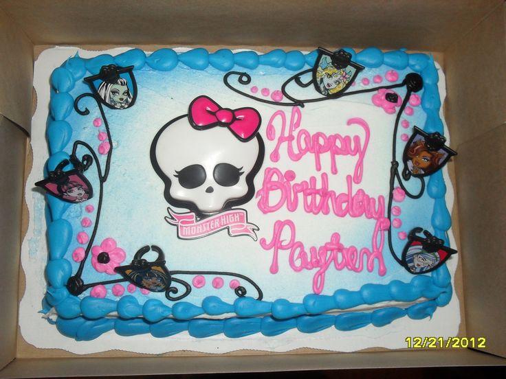 Walmart Birthday Cakes Monster High Pin Walmart Birthday