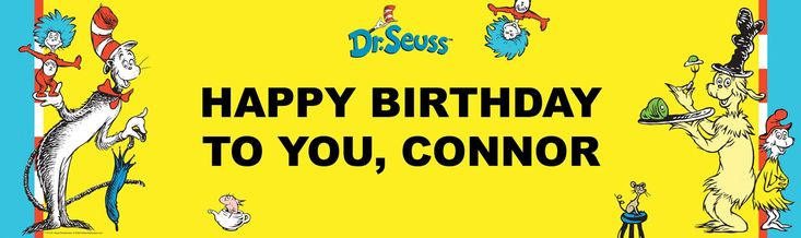 Dr. Seuss Personalized Birthday Banner from BirthdayExpress.com