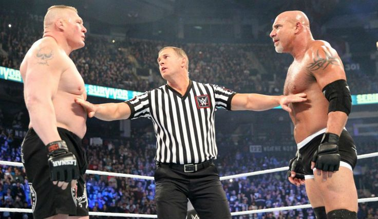 WWE: Should Brock Lesnar Vs. Goldberg At 'WrestleMania 33' Be A Title Match?