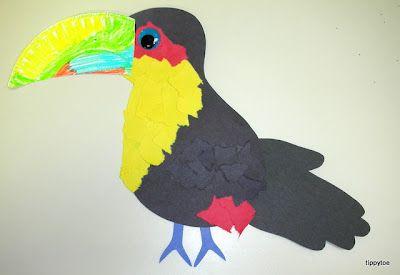 rain forest bird crafts for kids | toucans+(5).JPG