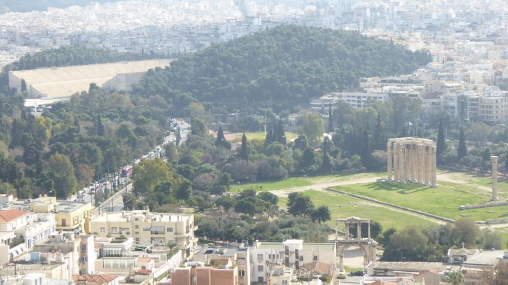 Fotografía: Rebeca Pizarro - Vistas del Templo de Zeus y Estadio Olímpico - Atenas