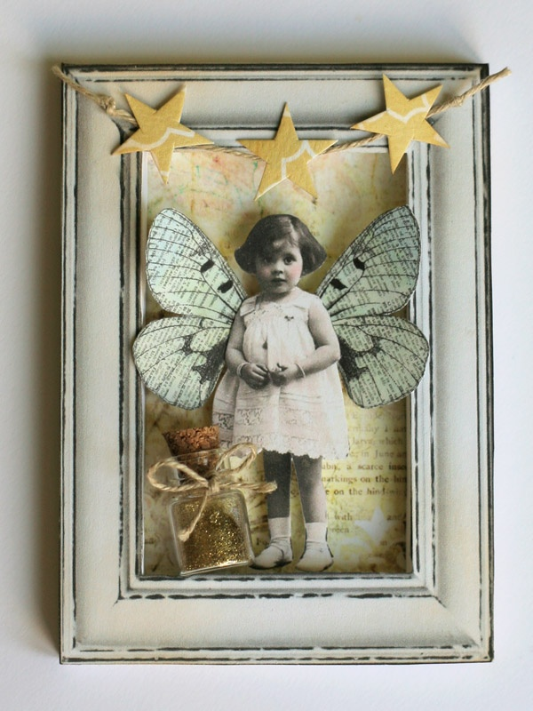 Fairy ATC by Anuszka  Yes, looks so easy but if I did it, it would be a little wreck.