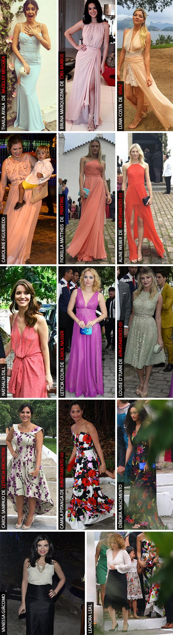 Vestidos para madrinhas e convidadas de casamentos durante o dia/ candy color dress for weddings