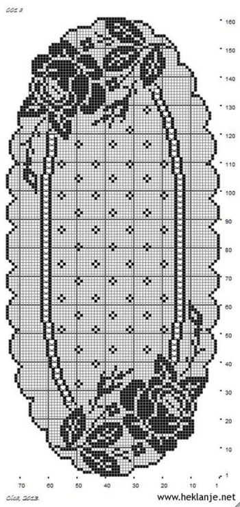 table runner #crochet #filet #crochet_filet #crochet_chart #pattern #crochet_pattern