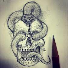 The dark mark tattoo from Harry potter... Kinda lol