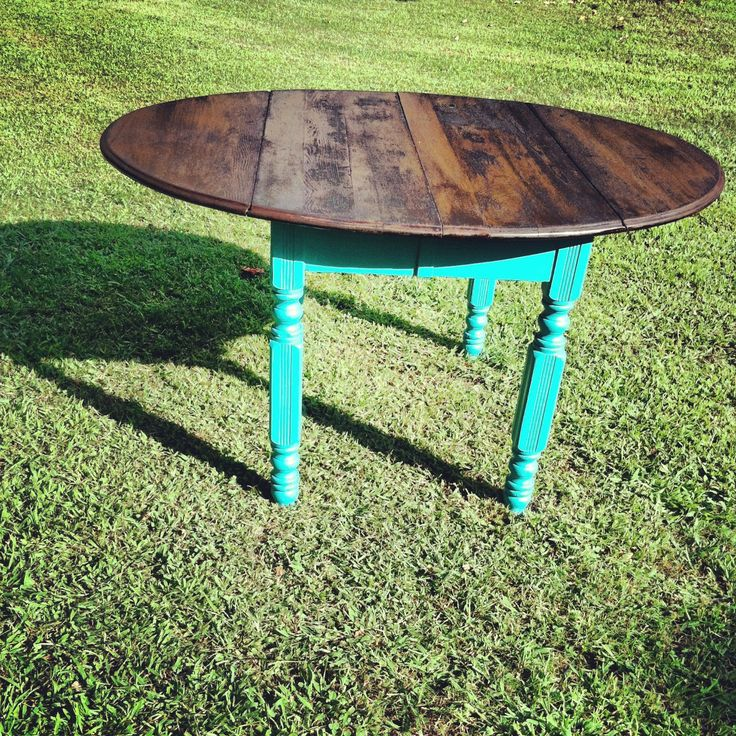 Teal colored kitchen table the selling indian for Teal kitchen table