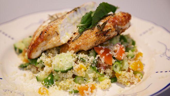 Mediterraanse kip met bulghur salade