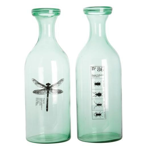 http://mooseartdesign.pl/pl/szklo/butelka-vase-fauna-detail Wymiary: szer.14/wys.46 cm Materiał: szkło recykling