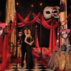 Mystery Masquerade Complete Theme Anderson's Prom -draped gossamer
