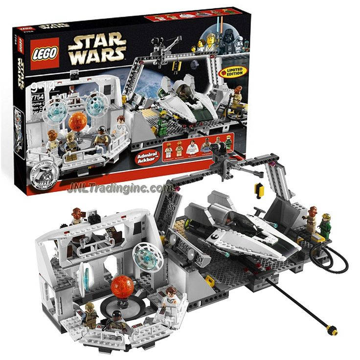 Lego Star Wars Series Set #7754 - HOME ONE MON CALAMARI STAR CRUISER w/ A-Wing Plus Adm. Ackbar, Mothma, Lando, Madine, Officer & Pilot (Piece: 789)