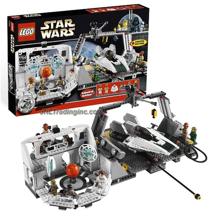Lego Star Wars Series Set #7754 - HOME ONE MON CALAMARI STAR CRUISER w/ A-Wing Plus Adm. Ackbar, Mothma, Lando, Madine, Officer & Pilot (Piece: 789)