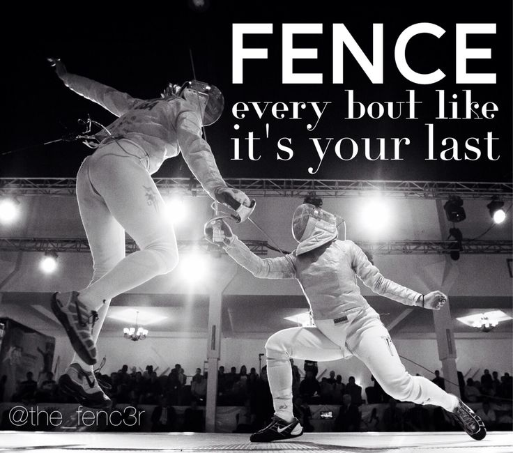 Fencing Quotes Cool Fencing  En Garde  Pinterest  Fences Sport Sport And Fencing Sport