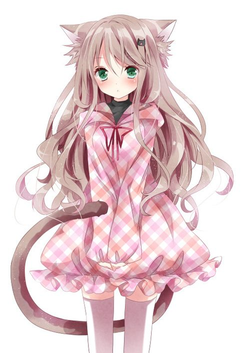 Cute anime girl with cat ears more fanart pinterest - Anime kitty girl ...