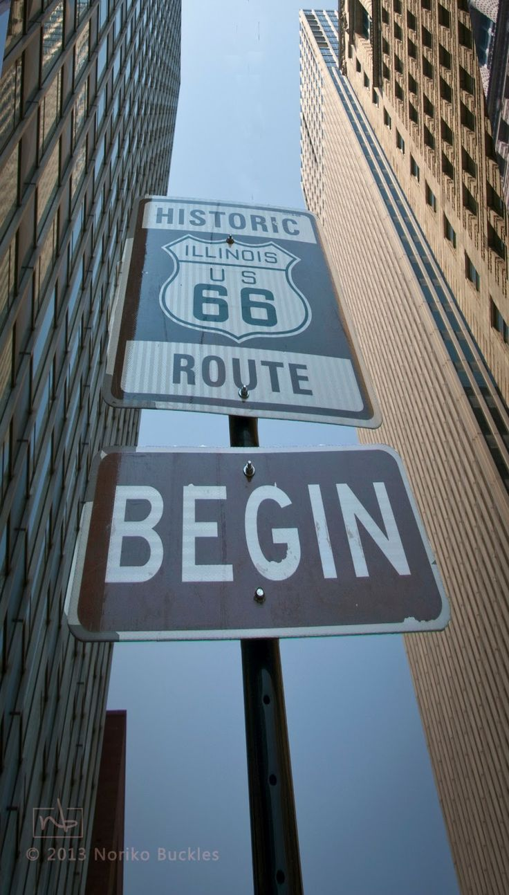 Begin historic route 66 sign chicago illinois http www