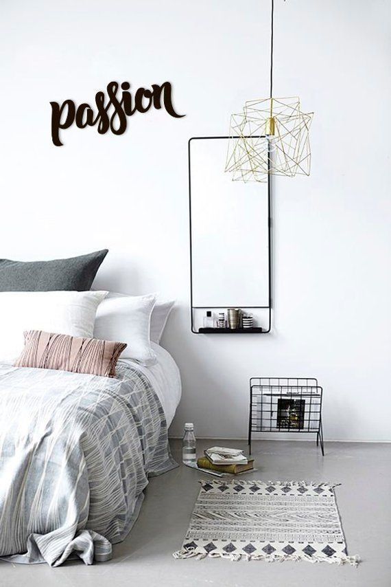 Passion Metal Word Wall Art Home Decor Metal Letters Hanging Words Metal Sign Gift Words Steel Office Living Room Bedroom Original In 2020 Minimalist Bedroom Design Bedroom Interior Minimalist Bedroom