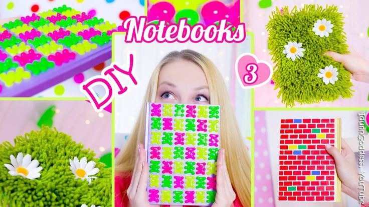 3 DIY Notebooks – How To Decorate Notebook Covers (DIY Back To School Id...