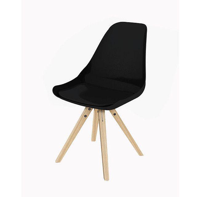 Nowoczesne krzesło Stars Mix - Czarny