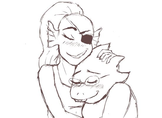Aooow this is totally too cute 4 me <3 Undertale - Alphys and Undyne animation by TresenellaArt