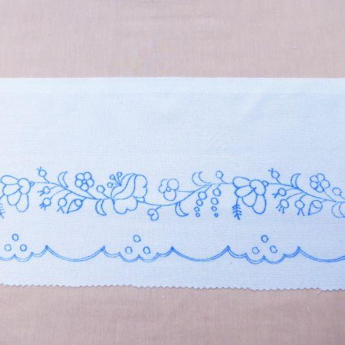 ハンガリー刺繍図案入りシェルフレース マチョーの図案