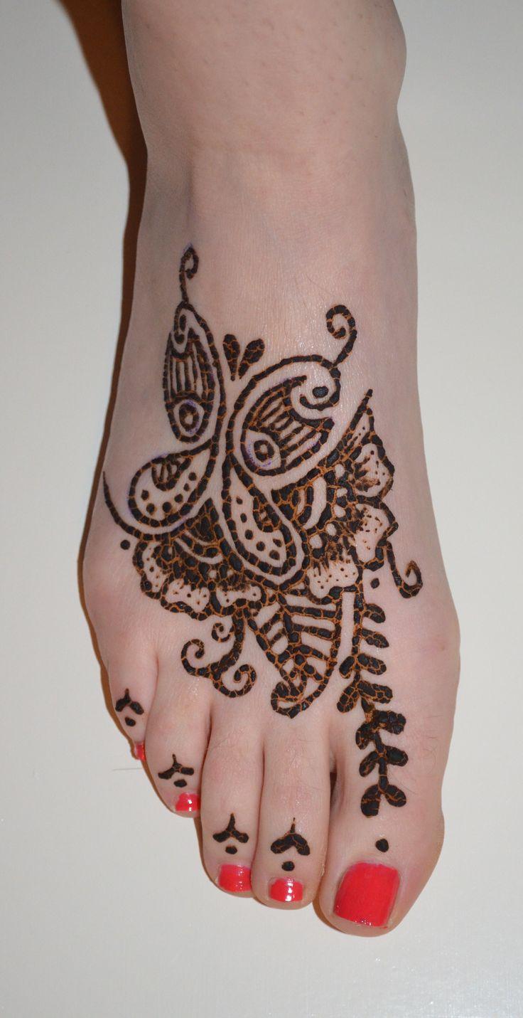 Henna tattoo charleston sc - Henna Flower Butterfly Tattoo