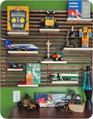 Display shelf - Ikea headboard inspired