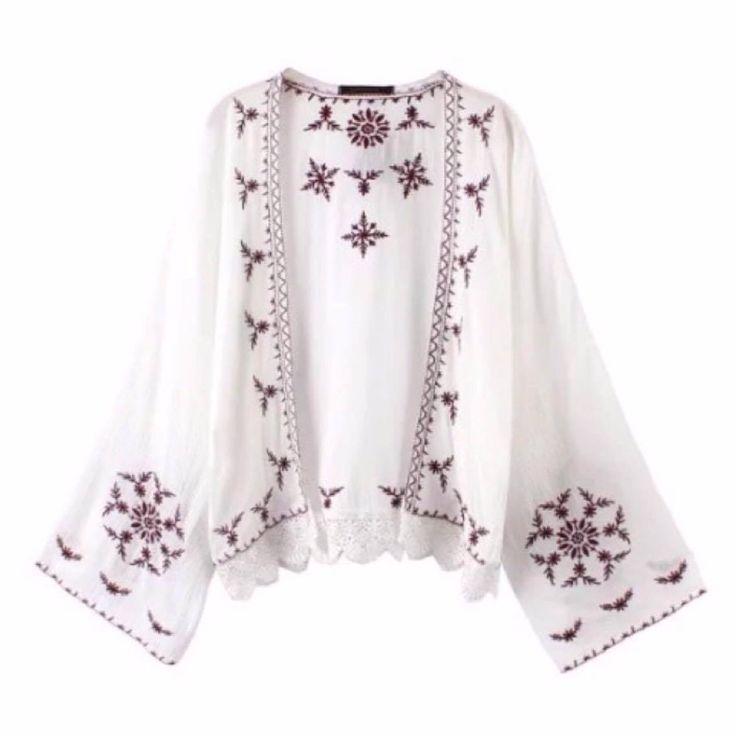 Embroidered Ethnic Style Kimono (2 Colours)
