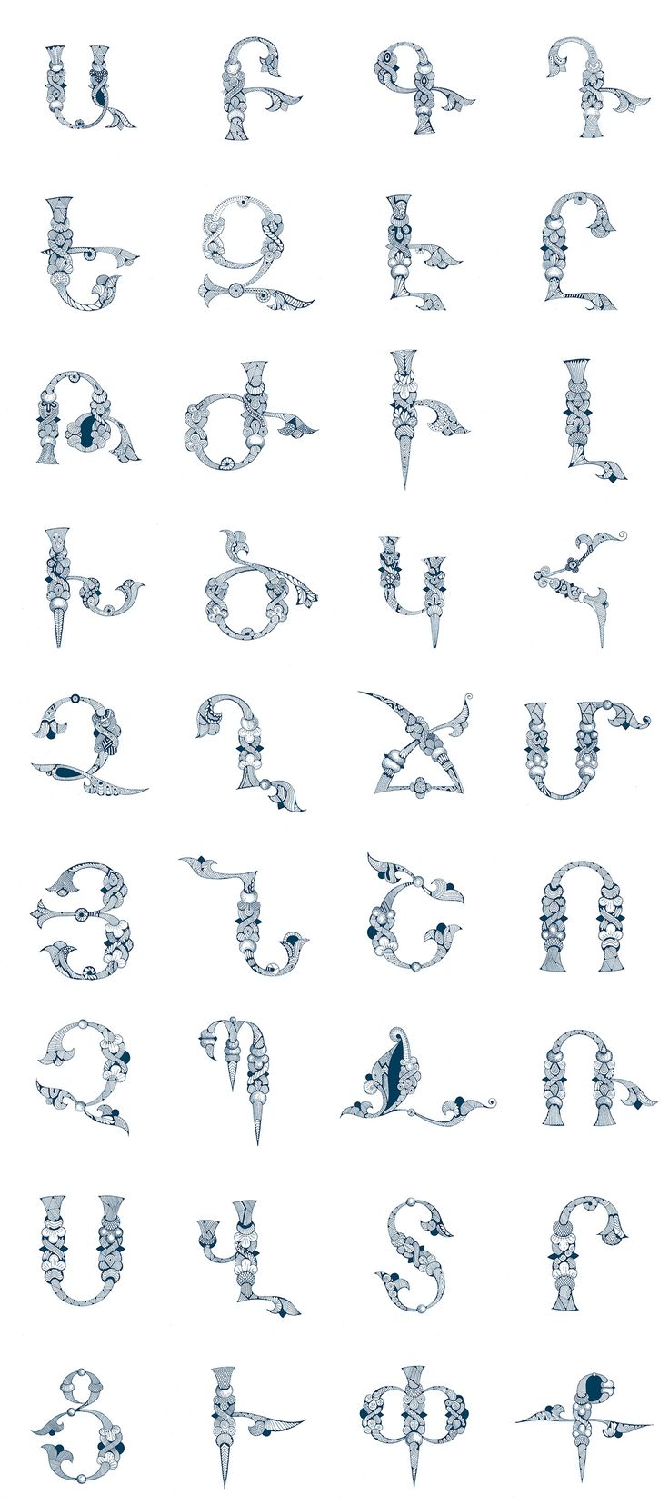 Armenian Alphabet by Narek Gyulumyan on Behance