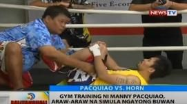 Pacquiao starts closed door training for Horn fight