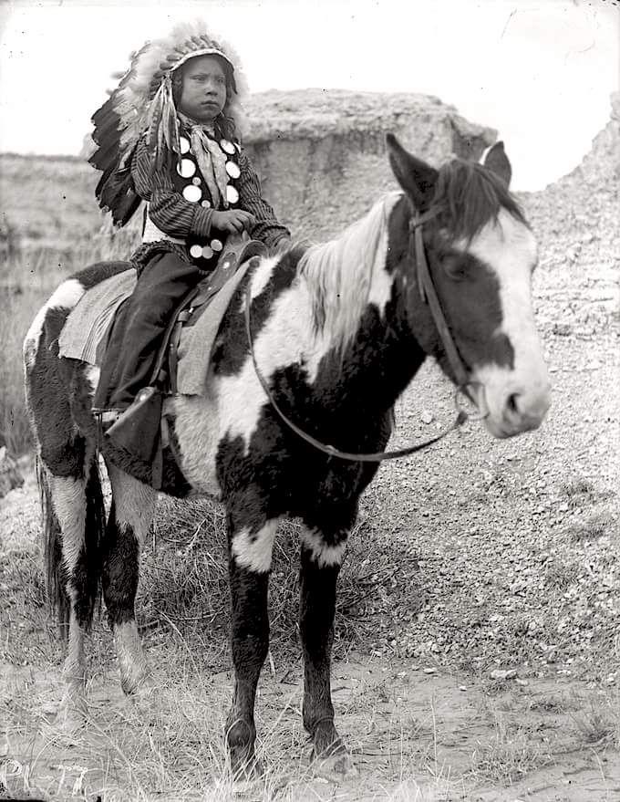 Мальчик сиу. Южная Дакота, 1895-1899